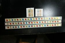 ANTIQUE SLOT MACHINE PACE 20 STOP MYSTERY FORTUNE REEL STRIP SET AWARD CARDS LOT