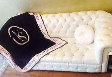 NEW STYLE Victoria's Secret PINK black Throw/blanket perfect Valentine gift