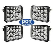 "4X6"" DOT LED  Light Bulbs Crystal Clear Sealed Beam Headlamp Headlight Set"