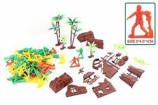 Army Men Multi Soldier Playset Bucket Military Combat Toys Children Kids