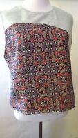 ZARA Multi-Color Floral  Print  knit Sleeveless  Top Blouse  Size L