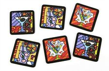 Romero Britto Coaster Set With Cocktail Design Set of 6
