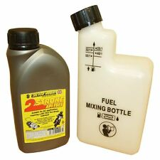 500ML Of 2 Stroke Oil And Fuel Petrol Mixing Bottle Ideal For Husqvarna Chainsaw
