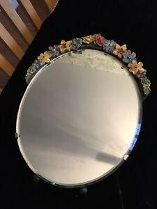 Vintage Barbola Easel Type Mirror