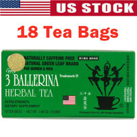3 BALLERINA TEA DIETERS DRINK EXTRA STRENGTH WEIGHT LOSS SLIM TEA 18 TEA BAG HOT