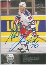 2013-14 UD Ultimate Collection Glenn Anderson Auto New York Rangers AL-64
