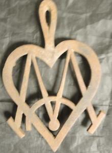 Antique Cast Iron Masonic Trivet