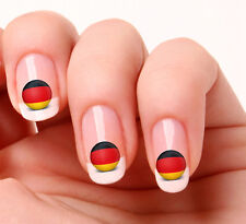 20 Nail Art Decals Transfers Stickers #26 - World Cup Germany flag icon
