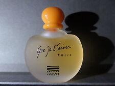 """Rare Miniature De Parfum """"Que Je T'aime Folie"""" Johnny Hallyday"""