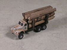 N Scale 1955 Rusted B Model Mack Logging Truck