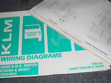 1986 1987 TOYOTA VAN WIRING DIAGRAMS SCHEMATICS MANUAL SHEETS SET
