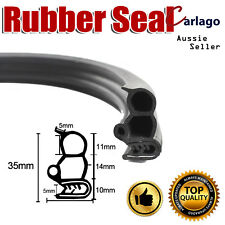 5M Pinchweld Rubber Seal Car Door Trunk Edge Trim Bulb Extrusion Metal Clip Grip