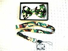 Military Army Marines Camo Adjustable Bow Tie & Mililary Army Lanyard Combo-New