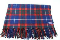"Pendleton Virgin Wool Throw Blanket Blue Red Green Plaid 68"" x 52"" Made in USA"