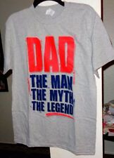 """Alstyle Men's Gray T-Shirt SZ. Med. """"Dad, The Man, The Myth, The Legend"""""""