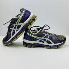 Women's ASICS GEL Kayano 18 Running Shoes Size 7 Purple White Grey T2C9N EUC