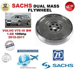 FOR VOLVO V70 BW 1.6 D 109 bhp 2010-2011 SACHS DMF DUAL MASS FLYWHEEL with BOLTS