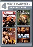 4 Movie Marathon Classic War Collection Wake Island To Hell Back Battle Hymn R1