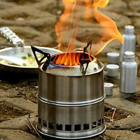 Outdoor Cooking Stove Camping Wind Proof Metal Stove Wood Burning For BBQ Piinic
