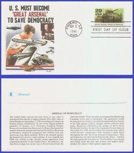 USA5 #2559e U/A FLEETWOOD FDC   World War II - Arsenal of Democracy