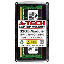 A-Tech 32GB DDR4 2666 MHz PC4-21300 Laptop SODIMM 260-Pin 2Rx8 Memory RAM 1x 32G