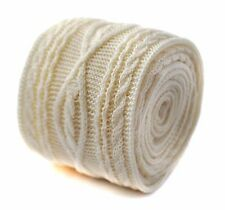 Frederick Thomas plain ivory cream knitted tie with cable knit design FT2008