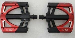 Crankbrothers 5050 2 Downhill MTB Flat / Platform Pedals Red/black