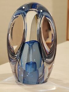 Ed Nesteruk Glass. Youghiogheny Art Museum. 3 pannel, with double blue tear drop