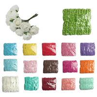 144pcs 2CM PE Rose Foam Mini Flower Bouquet Solid Color/wedding decoration Gr Q9