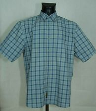 MENS TIMBERLAND SHIRT SHORT SLEEVE COTTON SIZE L (LABEL M) GC