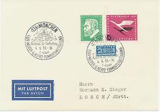 """2402 BRD 1955, """"(13b) MÜNCHEN / Ausschuß für Funkortung / FLUG-WETTER-U.ASTRO"""