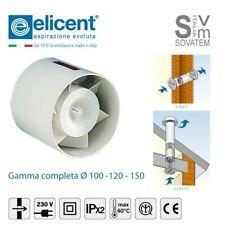 ASPIRATORE ELICOIDALE DA INCASSO ELICENT SERIE TUBO DIAMETRO Ø 100-120-150mm