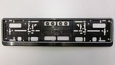 1 x  Kennzeichenhalter, schwarz + weißer Rand,  Nummernschildhalter, Halter