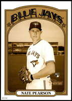 Nate Pearson 2021 Topps Heritage 5x7 Variations Gold #301A /10 Blue Jays Action
