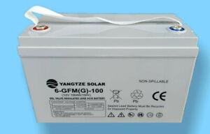 GEL-Batterie VRLA, Extrem Zyklenfest, 12V 100Ah, für Wohnmobile, Boote, Solar
