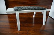 Minimaliste chêne blanc bois indoor bench-rembourré gotland en peau de mouton - 10