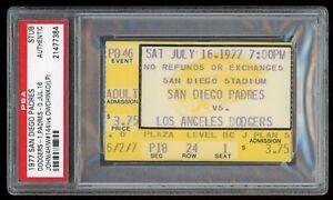 Tommy John Win #144 Shutout July 16 1977 7/16/77 Padres Dodgers Ticket Stub PSA