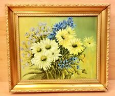 """Still Life Oil on Board """"Floral Study"""" Signed R.J. Wakefield."""