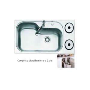 Lavello Inox Foster >>serie TORNADO  2 VIE Incasso Standard 1580 310