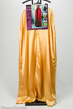 Cape Gold Full Length Hooded Poly Satin Mardi Gras Halloween Cape With Half Mask