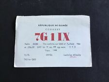 More details for vintage qsl radio communication card republic of guinee 1964   r37500