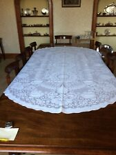 "BNWOT Large Oblong White Lacy Tablecloth 100"" x 62"""