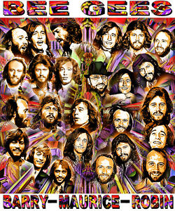 """""""BEE GEES"""" TRIBUTE T-SHIRT OR PRINT BY ED SEEMAN"""