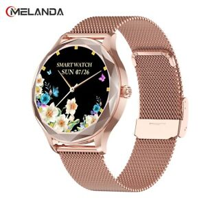 Fashion Women Smart Watch Full Touch Round Screen IP68 Waterproof IOS & Android