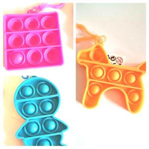 Sensory Bubble Fidget toy alaphabet and shape with clip