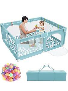 Baby Playpen, toddler Kids Large Playard 50 Toy Balls Indoor & Outdoor 160x160cm