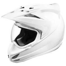 Icon Variant Gloss White Motorbike Motorcycle Helmet
