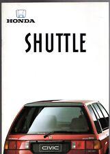 Honda Civic Shuttle 1987-88 UK Market Sales Brochure 1.4 GL 1.6i-4WD