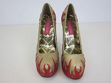 Bordello Burlesque Glitter Heels - Womens 9