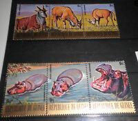 FRANCOBOLLI LOTTO GUINEA 1977 ANIMALI SELVATICI SERIE TIMBRATI USED LOT (CAT.5A)